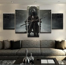 Game Bloodborne 5 Piece Wall Art Poster Prints Decorative HD Print Paintings on Canvas Home Decor Picture Artwork