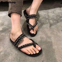 купить Bailehou 2019 Summer Slippers For Women Flat Flip Flops Fashion Brand Chain Slide Platform Beach Sandals Slip On Outdoor Slipper по цене 1232.15 рублей