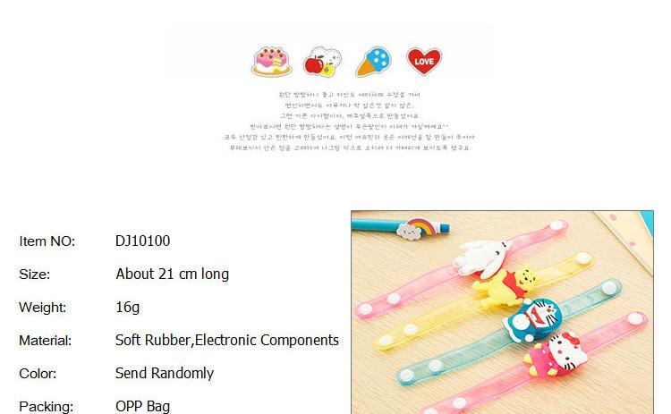 1pcs Cartoon LED Night Light Party Xmas Decoration Colorful LED Watch Toy Boys Girls Flash Wrist Band Glow Luminous Bracelets (1)