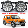 Для SUZUKI JIMNY FJ Закрытое Вездеход 1998-2014 стайлинга Автомобилей передний бампер СВЕТОДИОДНЫЕ противотуманные фары высокой яркость противотуманные фары 1 компл.
