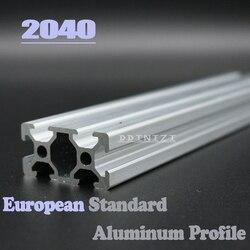 2040 Европейский стандарт анодированный линейный рельс алюминиевый профиль экструзии 2040 для DIY 3D принтер CNC угловые кронштейны