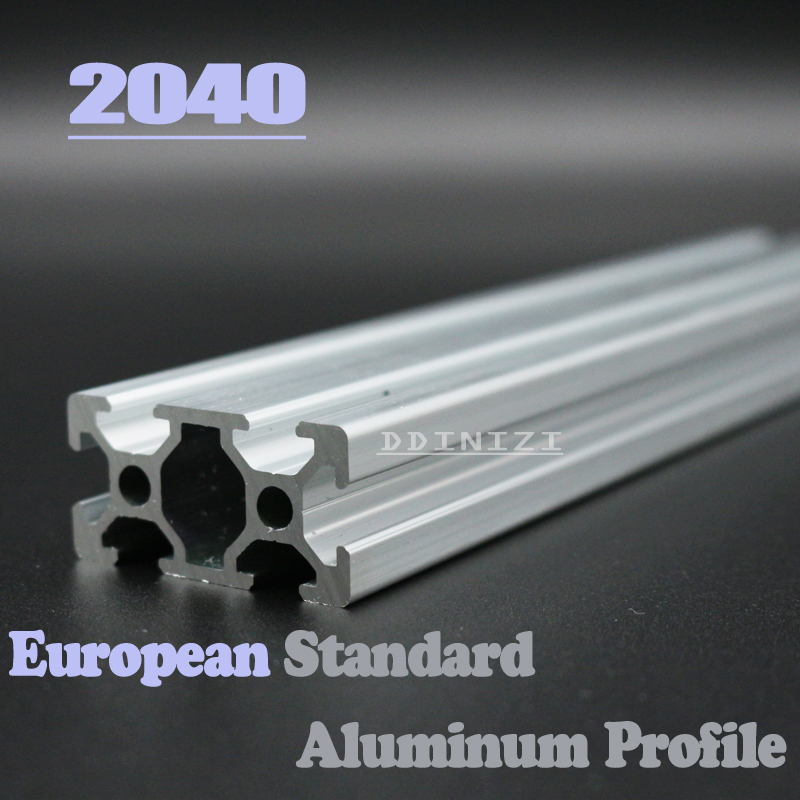 2040 European Standard Anodized Linear Rail Aluminum Profile Extrusion 2040 For DIY 3D Printer CNC Corner Brackets