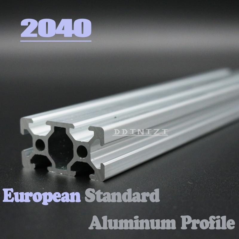 2040 European Standard Anodized Linear Rail Aluminum Profile Extrusion 2040 For DIY 3D Printer CNC Corner Brackets