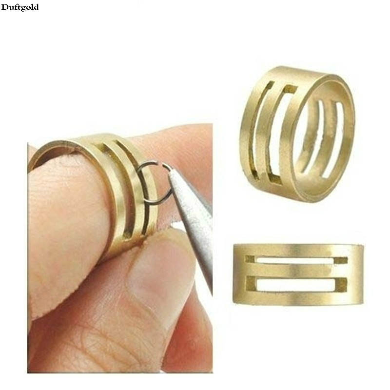2 Pcs New Fashion DIY Raw Brass Open/Close Jump Ring Making Tool For Jewelry Making Tools Circle Round Copper Jewelry Tools