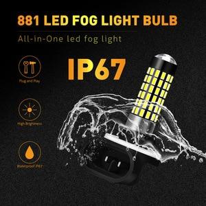 Image 5 - Katur 2pcs H27W/2 881 Led נורות ערפל אורות עבור מכוניות Led ערפל נהיגה מנורת גבוהה אורות רכב אור Sourse 6000K לבן H27W H27 Led