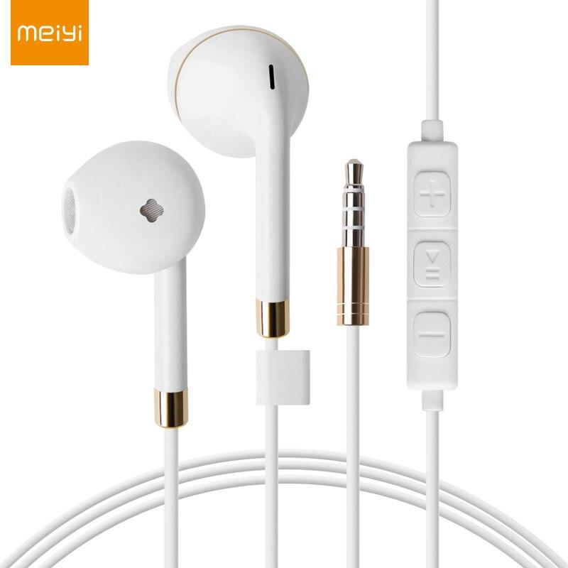 Наушники-вкладыши MEIYI с микрофоном, провод управления для наушников, музыкальные наушники для iPhone 6s 6 plus se 5s xiaomi Samsung HTC LG, гарнитура