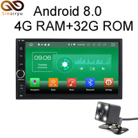 Sinairyu Universal 4G RAM Android 8 0 Car 2 Din DVD For Nissan Octa Core 32G