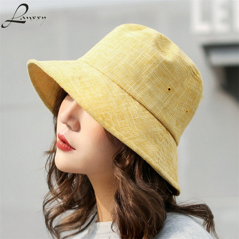 Lanxxy Women Casual Bucket Hats Bape Fishing Hat Ladies Summer Sun Hat Caps