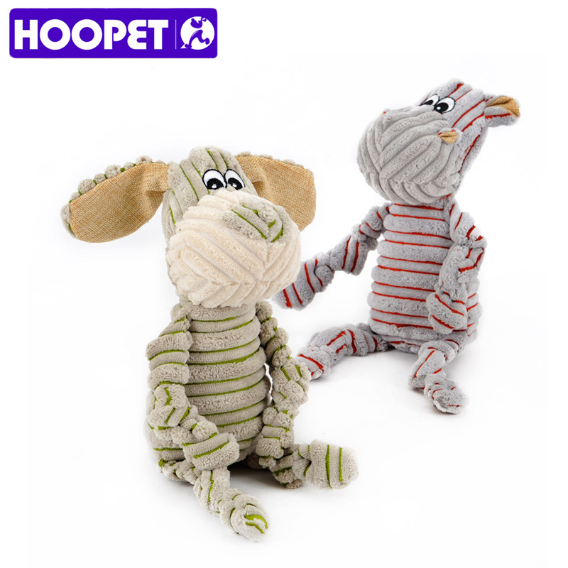 HOOPET Pet Dogs Little Donkey And Pony Striped Toy Vocal Strong Resistance To Bite Puzzle Molar