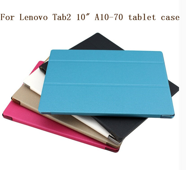 New design case for Lenovo Tab 2 A10-70 A10-70F A10-70L Tablet   Business Pu Leather Stand Case Cover Shield With Hard Shell