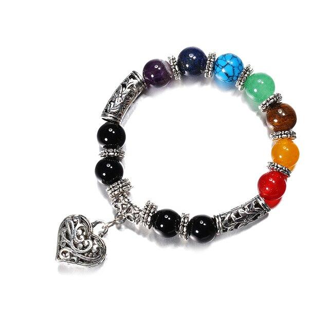 Matte Onyx Beads Buddha Religious Bracelet Reiki Prayer 7 Chakra Stones Healing Balance Tiger Eye