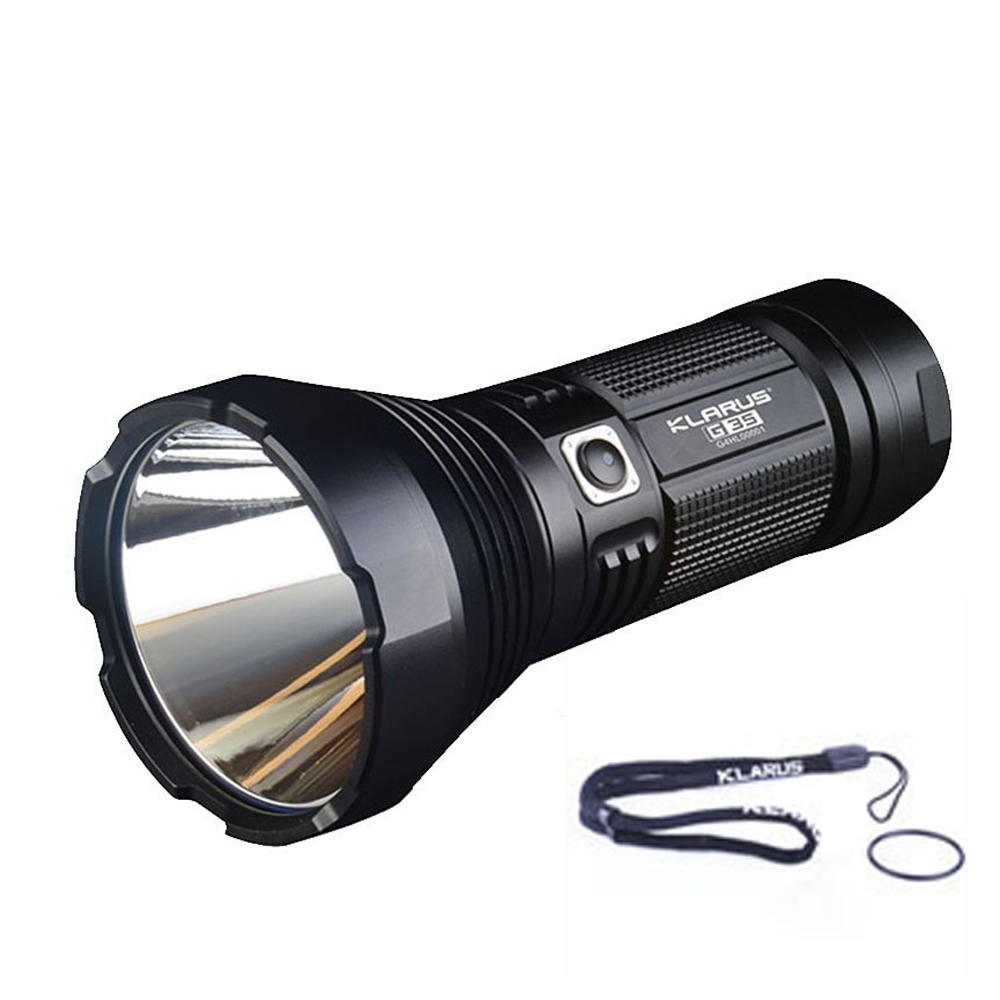 Search Flashlight KLARUS G35 CREE XHP35 HI D4 LED 2000LM max.beam distance 1000 meter waterproof Dual-switch outdoor torch light nitecore flashlight p30 cree xp l hi v3 led max 1000lm beam distance 618 meter led outdoor torch search light 2300mah battery