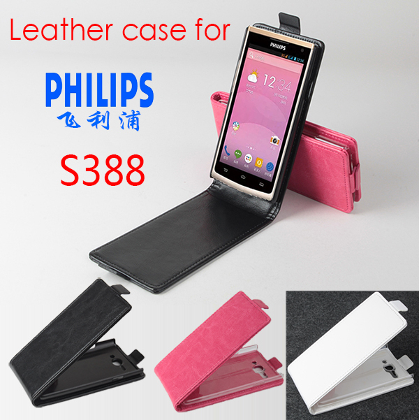 For PHILIPS S388 Case, New High Quality Genuine Filp Leather Cover Case For PHILIPS S 388 Case