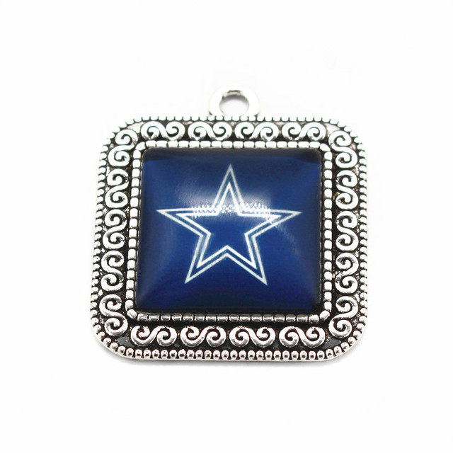 Aliexpress buy hot sale 10pcslot team football sports hot sale 10pcslot team football sports dallas cowboys hanging glass pendant dangle charms floating aloadofball Gallery