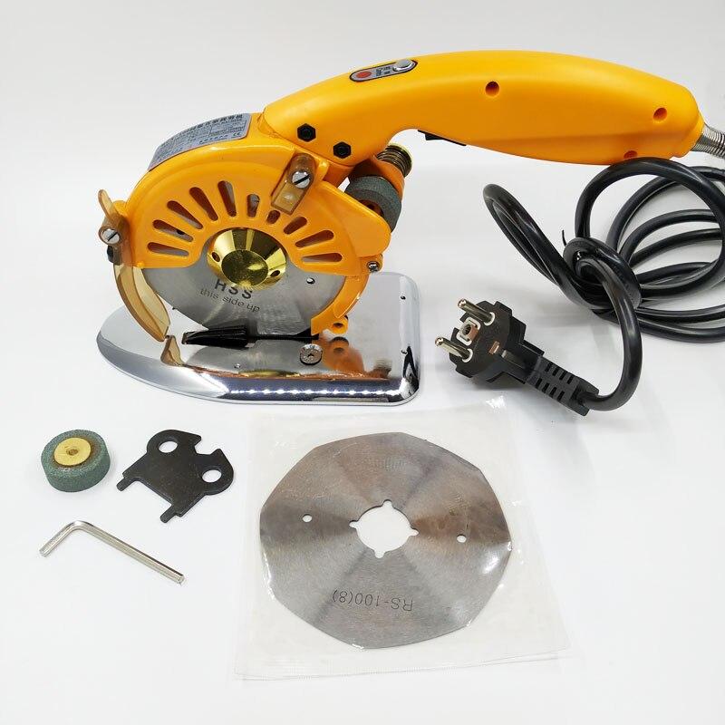 110 V-240 V Amarelo faca circular tesouras eléctricas de acionamento elétrico direto da ferramenta de máquina de corte de pano