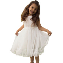 Cute Girls Dress New Summer Clothes Flower Princess Children Baby Casual Wear 3 8Y
