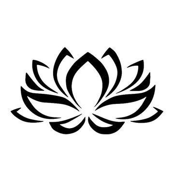 Lotus Flower White Decal Fashion And Simple Car Window New Art Car Body Stickers CY019