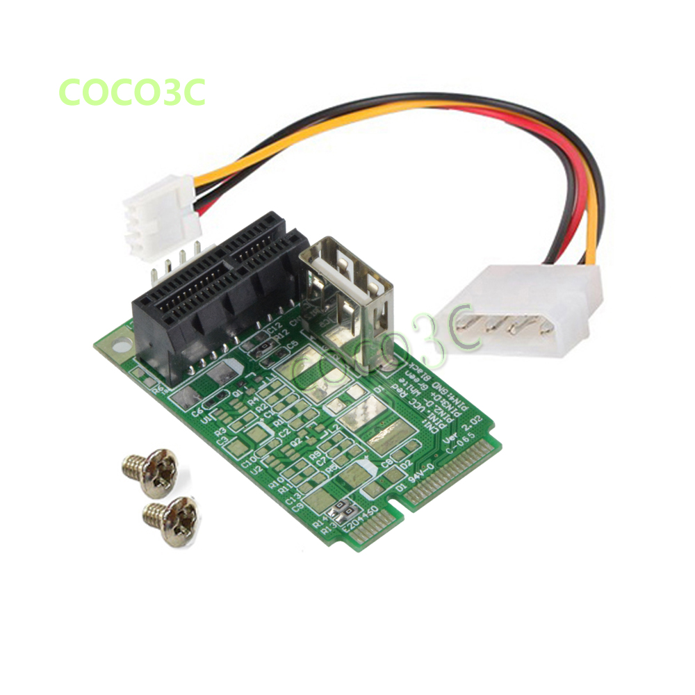 Mini PCIe To PCI-e 1x slot adapter for mini ITX mini PCI-e to PCI express riser card for Sound, Network, graphics card