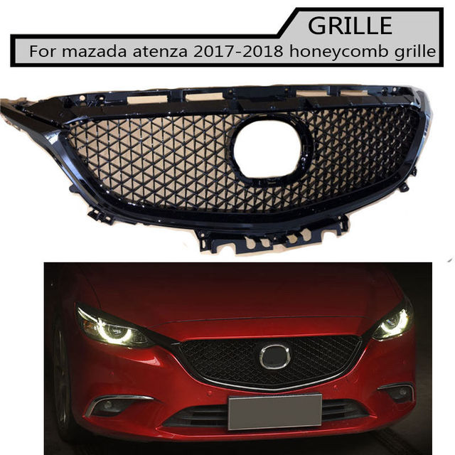Front Abs Grill Honeycomb Racing Grill Grille Fit For Mazda Atenza