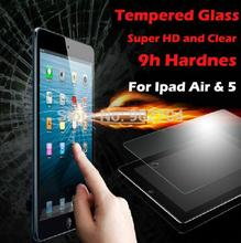 Explosion Proof Clear Premium Tempered Glass Screen Protector Protective Film Guard For Ipad Air & 5 With Package