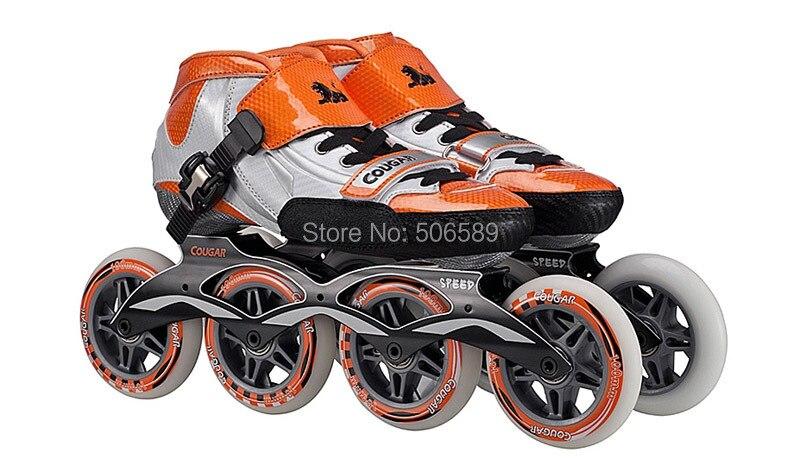 Free Shipping Speed Skates SR1 Glass Fiber Boots High Quality Orange Blue