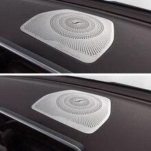 Car styling Audio Speaker For Mercedes Benz W205 GLC C Class C180 C200 Dashboard Loudspeaker Cover Stickers Trim Accessories LHD for mercedes benz c class w205 c180 c200 c260 glc 2015 2016 screen cover trim car interior accessory