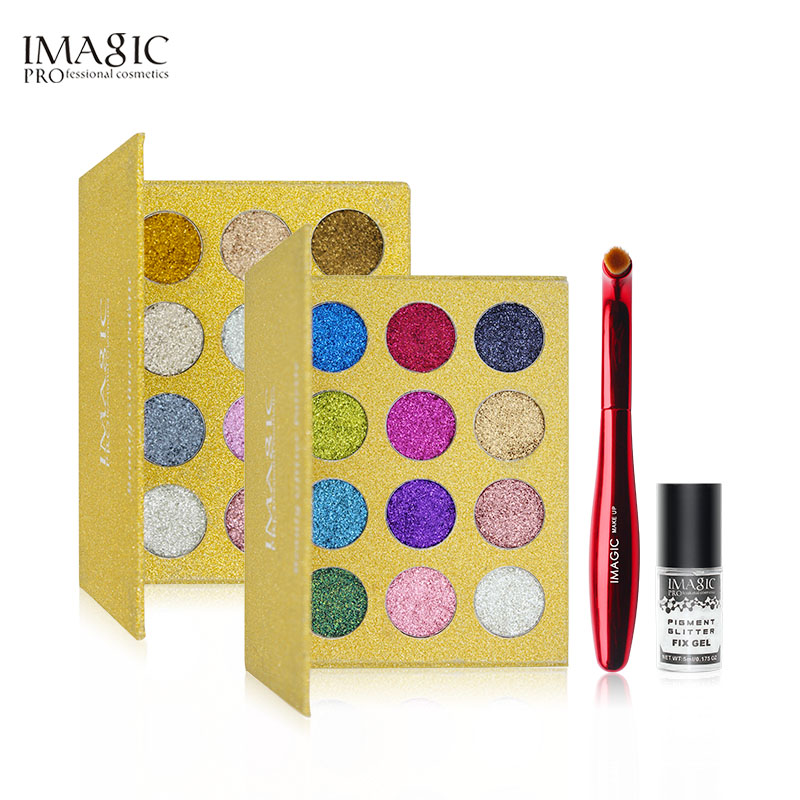 IMAGIC Glitters Eyeshadow Paleta cieni do powiek 12 kolorów Paleta - Makijaż - Zdjęcie 2