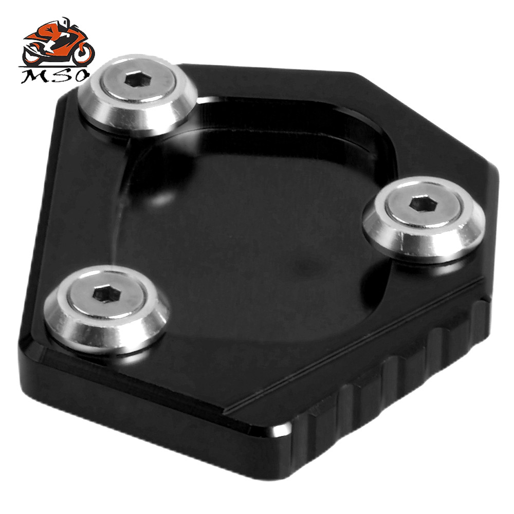 CBR500R//CB500F//X 2013-2014 Aluminum Black color tree Racing Motorcycle Kickstand Sidestand Extension Enlarge Plate Pad fit for Honda NC700S//NC700 Integra 2012-2014