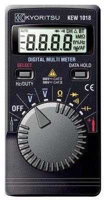 Kyoritsu 1018H Digital Multimeter (Hard Case) DC 400mV/4/40/400/600V AC 4/40/400/600V kbp206 sep 2a 600v