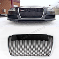 RS5 Grille Car Styling ABS Auto Racing Frente Grill para Audi A6 & S6 & RS6 2005-2011