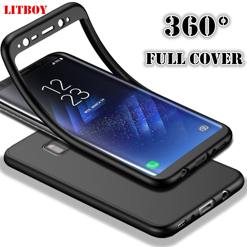 LITBOY <font><b>360</b></font> degree Full <font><b>Case</b></font> For <font><b>Samsung</b></font> Galaxy Note 9 8 S8 S9 Plus S7 edge J3 <font><b>J5</b></font> J7 A3 A5 A7 <font><b>2017</b></font> A6 A9 J4 J6 Soft Silicon Cover image