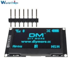 "Image 1 - Diymore Blau 2,42 ""2,42 inch LCD Screen 128x64 OLED Display Modul IIC I2C SPI Serielle 12864 OLED display für C51 STM32 SPD0301"