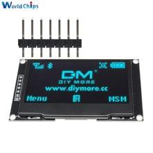 "Diymore azul 2.42 ""2.42 polegada tela lcd 128x64 módulo de exibição oled iic i2c spi serial 12864 display oled para c51 stm32 spd0301"