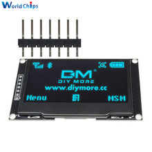 "Diymore mavi 2.42 ""2.42 inç LCD ekran 128x64 OLED ekran modülü IIC I2C SPI seri 12864 OLED ekran C51 STM32 SPD0301"