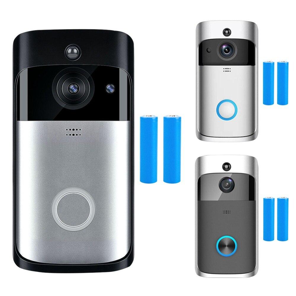 Wi-fi Sem Fio Inteligente de Segurança Interfone Visuais Campainha HD 720 p Gravação de Vídeo Vídeo Porteiro Visão Noturna de Monitoramento Remoto Para Casa