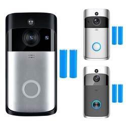 Wi Fi Smart беспроводной безопасности Дверные звонки HD 720 P визуальный запись системы селекторной связи видео телефон двери удаленного