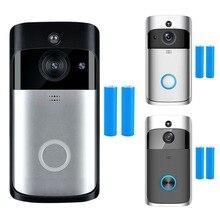WiFi умный беспроводной безопасности видео дверной звонок HD визуальная запись системы селекторной связи дверной телефон Удаленный домашний мониторинг камера ночного видения