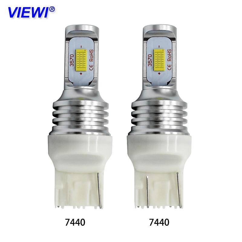 цена на Viewi 2pcs T20 7440 W21W W21/5W 7443 LED Signal Brake Stop Bulb 12v 24v 72w auto truck car Back-Up bulbs Daytime Running lights
