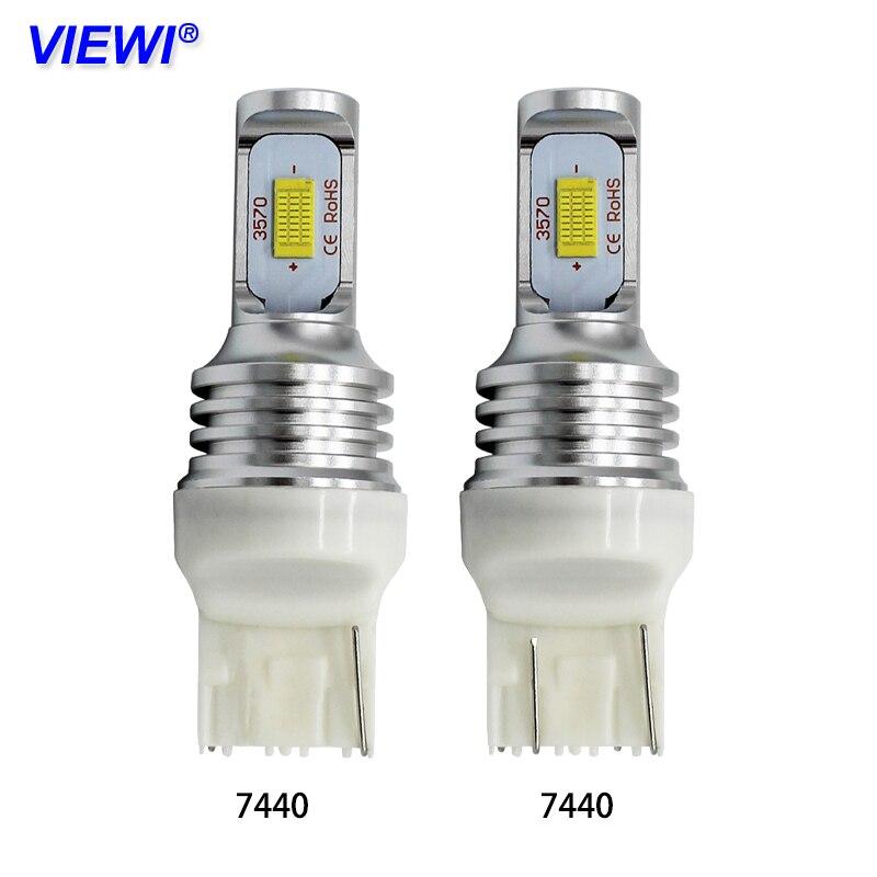 Viewi 2pcs T20 7440 W21W W21/5W 7443 LED Signal Brake Stop Bulb 12v 24v 72w auto truck car Back-Up bulbs Daytime Running lights цена