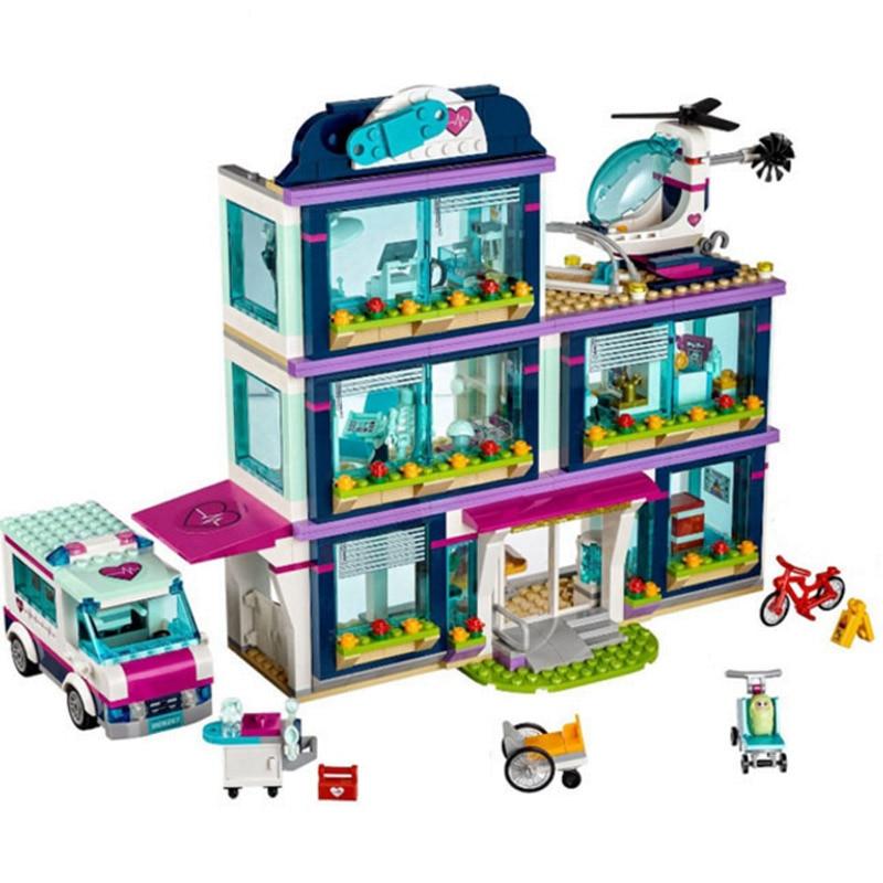932pcs Heartlake City Park Love Hospital Girl Friends Building Block Compatible Legoings Friends Brick Toy