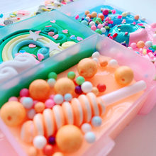 New DIY Charms Slime Kit Light Soft Colorful Mud Boxed 5 Colors Ocean/Candy Theme Colorful Fantacy Slime Clay Toy Children Gifts(China)