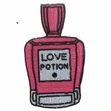 2PCS LOVE POTION Bottiglie di profumo Patch per vestiti Iron On Patch Adesivi fai da te adesivi hot melt accessori paillettes