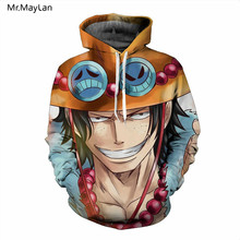 Japonija Classic Anime One Piece 3D Spausdinti Luffy Hoodies Vyrai Moteriški Puloveriai Kaputimetiniai Megztiniai Hip Hop Streetwear Unisex Drabužiai