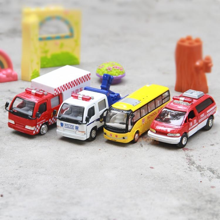 Warrior car alloy car inertia car school bus fire truck fire truck acoustooptical music toy