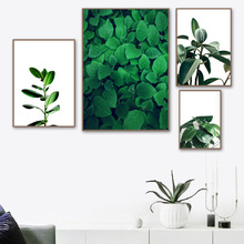 Tropical Palm Plant Big Leaves Landscape Wall Art Canvas Painting Nordic Posters And Prints Pictures For Living Room Decor