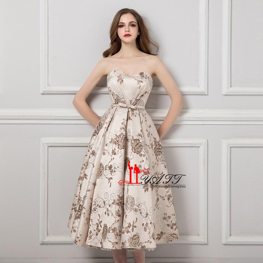 vintage new pink tea length prom dress