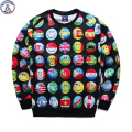 Mr.1991 youth fashion 3D flag emoji printed hoodies boys teens Spring Autumn thin sweatshirts big kids jogger sportwear W15