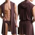 2017 new Hot Vendas Homens Roupão De Banho Roupão Masculino Robe Roupas Sleepwear Pijama Sexy Moda Camisola Sem Cuecas Asiático