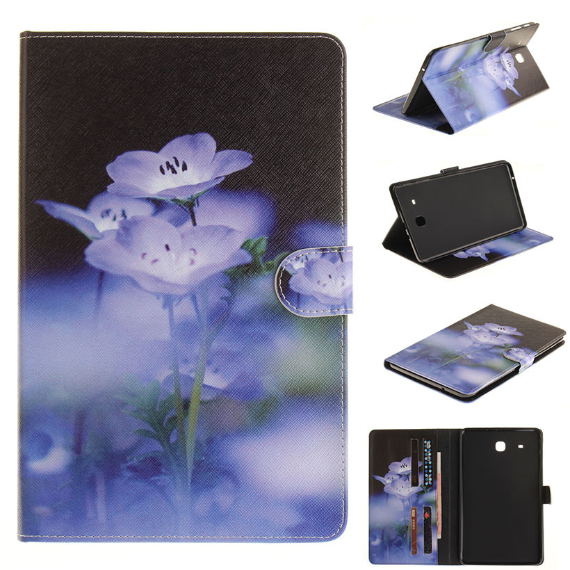 Moe värvitud flip PU nahast sFor Samsung Galaxy Tab E 9.6 - Tahvelarvutite tarvikud - Foto 2