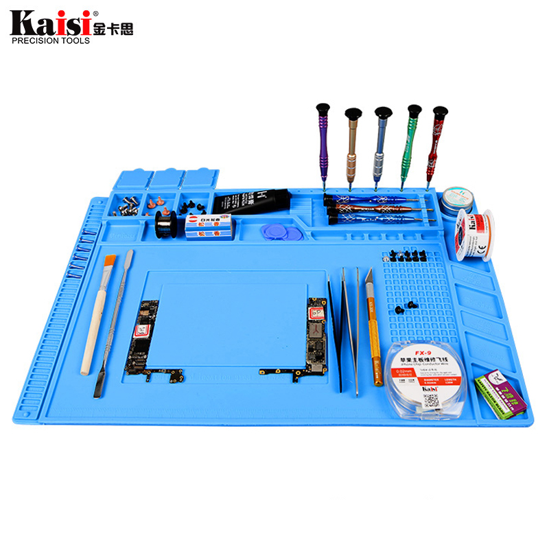Magnetic Heat Insulation Work Pad Desk Mat Soldering Repair Maintenance Silicone